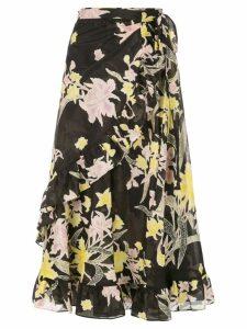 Dvf Diane Von Furstenberg Rosalia wrap skirt - Black