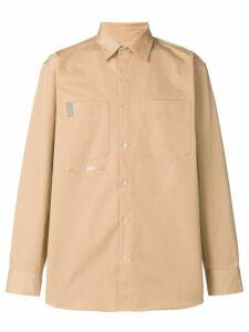 Wwwm logo long-sleeve shirt - NEUTRALS