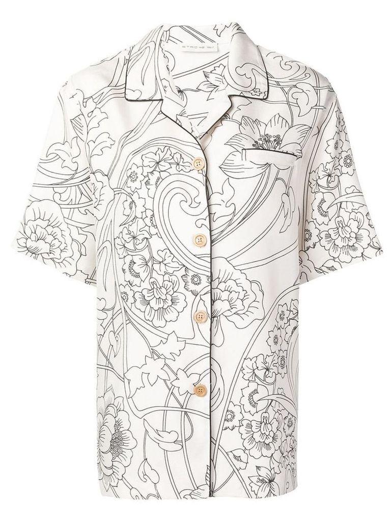 Etro floral print shirt - White