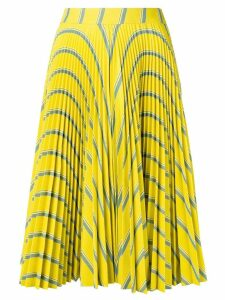 Calvin Klein 205W39nyc striped pleated flared skirt - Yellow