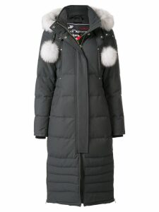Moose Knuckles pom pom padded coat - Grey