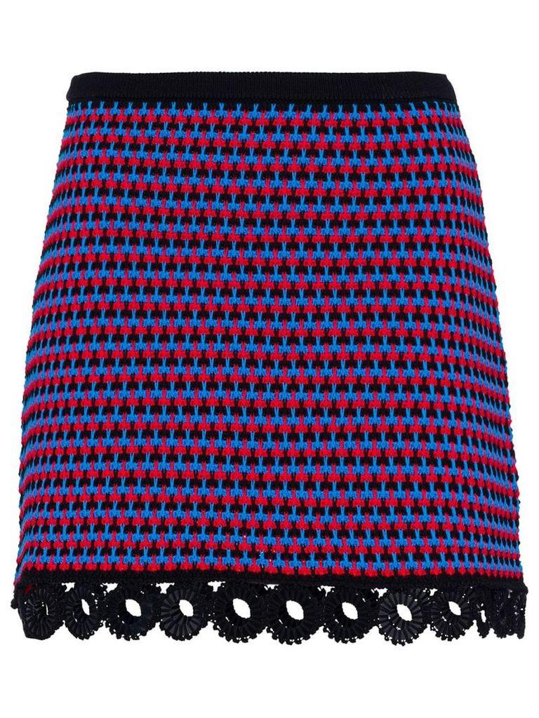 Miu Miu Cotton crochet skirt - Blue