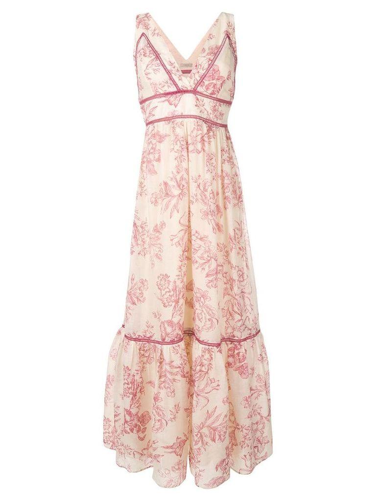 Twin-Set printed maxi dress - Neutrals