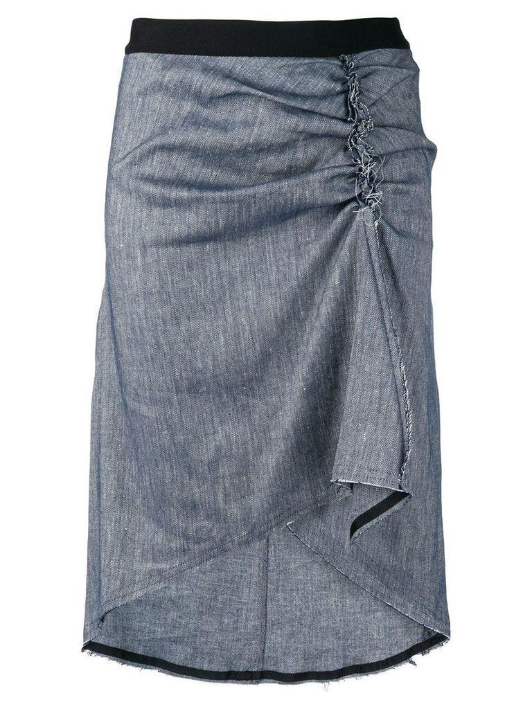8pm gathered side midi skirt - Grey