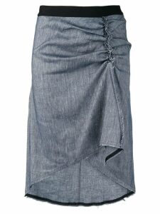 8pm gathered side midi skirt - Grey