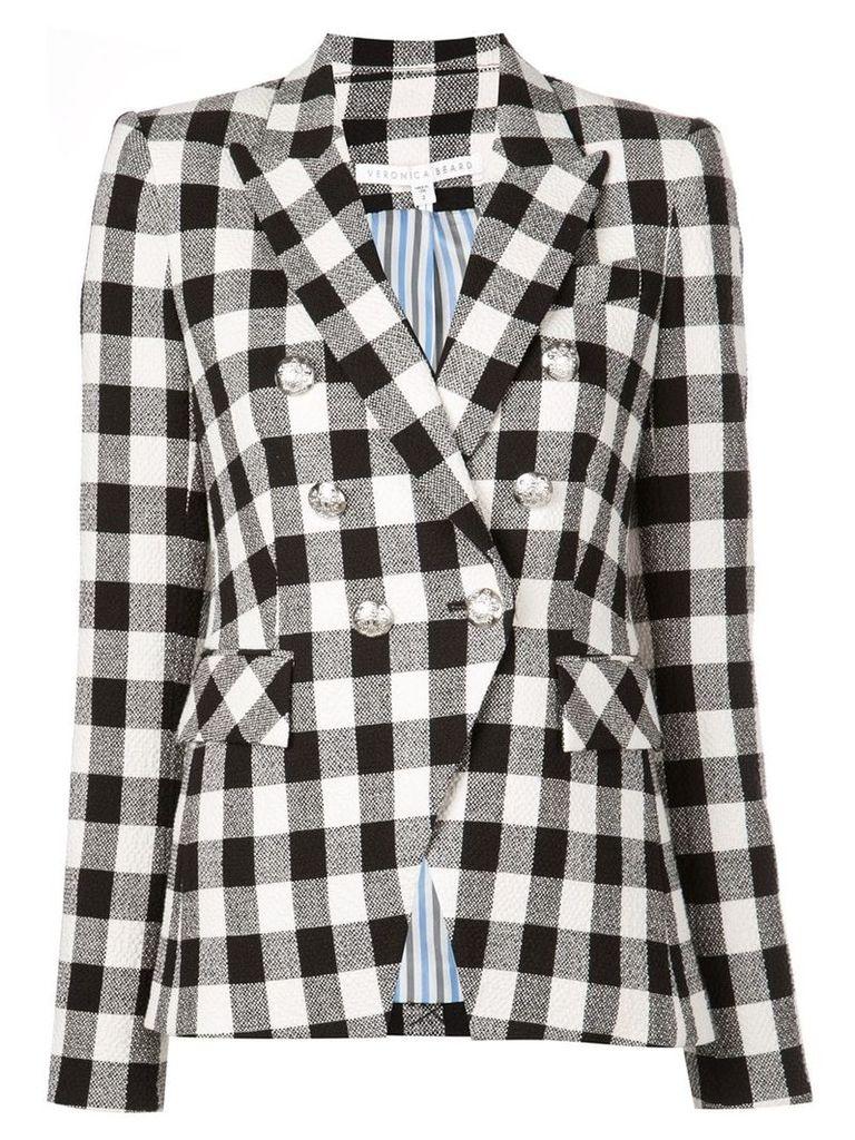 Veronica Beard check double-breasted blazer - Black