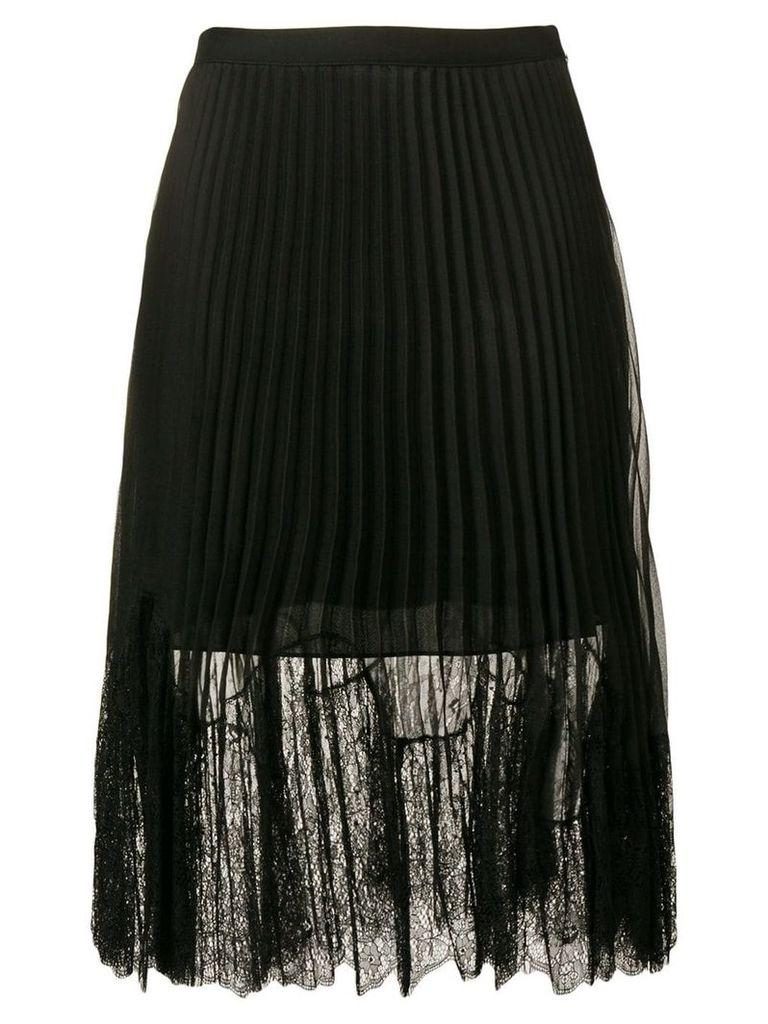 McQ Alexander McQueen pleated lace midi skirt - Black