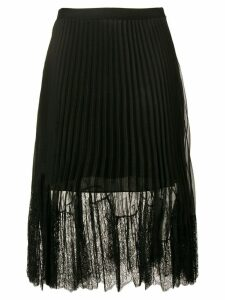 McQ Alexander McQueen pleated lace midi skirt - Black
