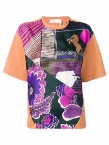 Chloé graphic print T-shirt - Orange