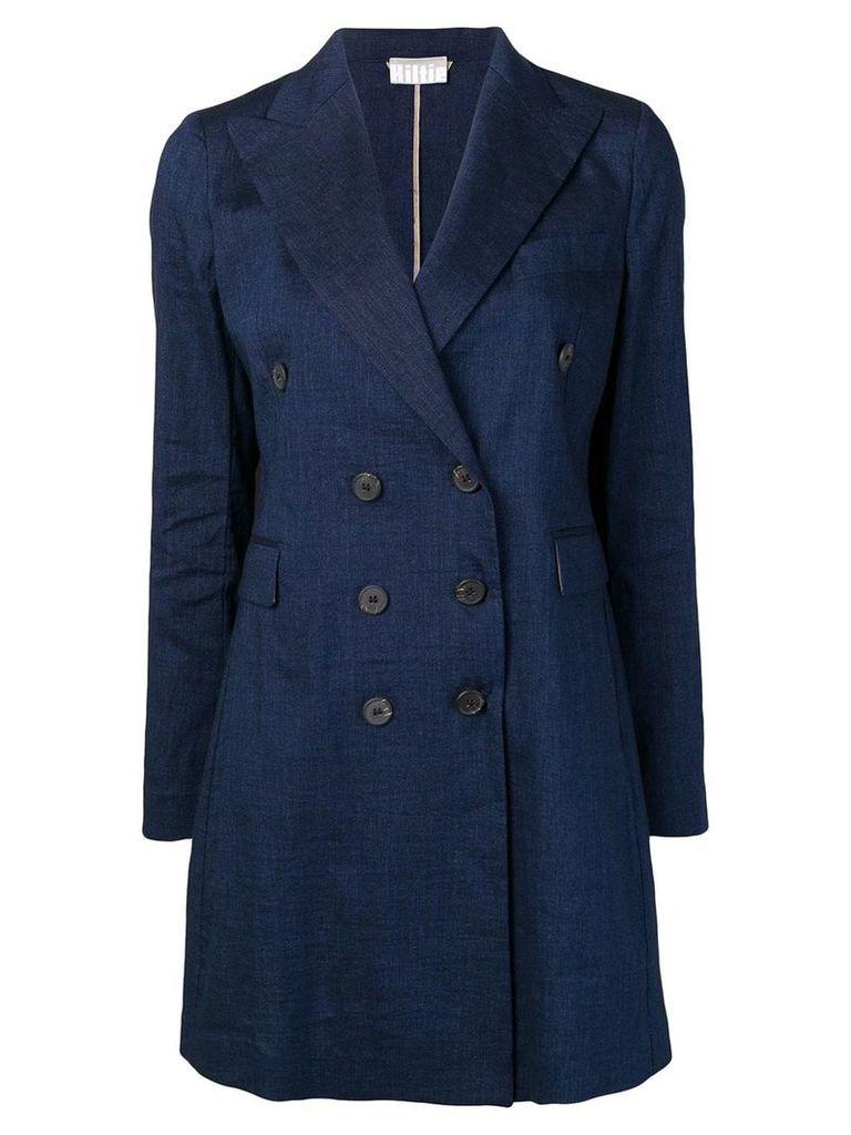 Kiltie double breasted coat - Blue