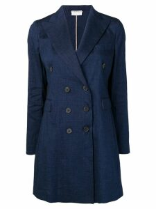 Kiltie double breasted coat - Blue