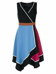 Loveless colour block wrap dress - Multicolour