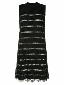 Loveless lace knit mini dress - Black