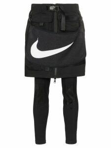 Nike x MMW logo towel utility skirt - Black