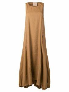 Erika Cavallini flared maxi dress - Brown