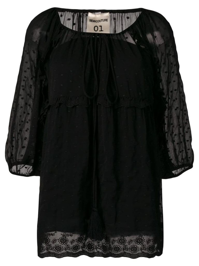 Semicouture embroidered blouse - Black