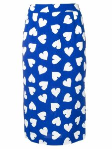 Essentiel Antwerp heart print pencil skirt - Blue