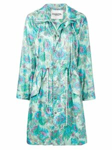 Essentiel Antwerp floral print rain coat - Green