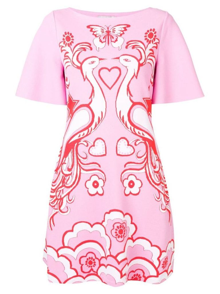 Valentino Phoenix Crepe de Chine dress - Pink