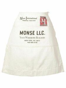 Monse apron a-line skirt - Neutrals