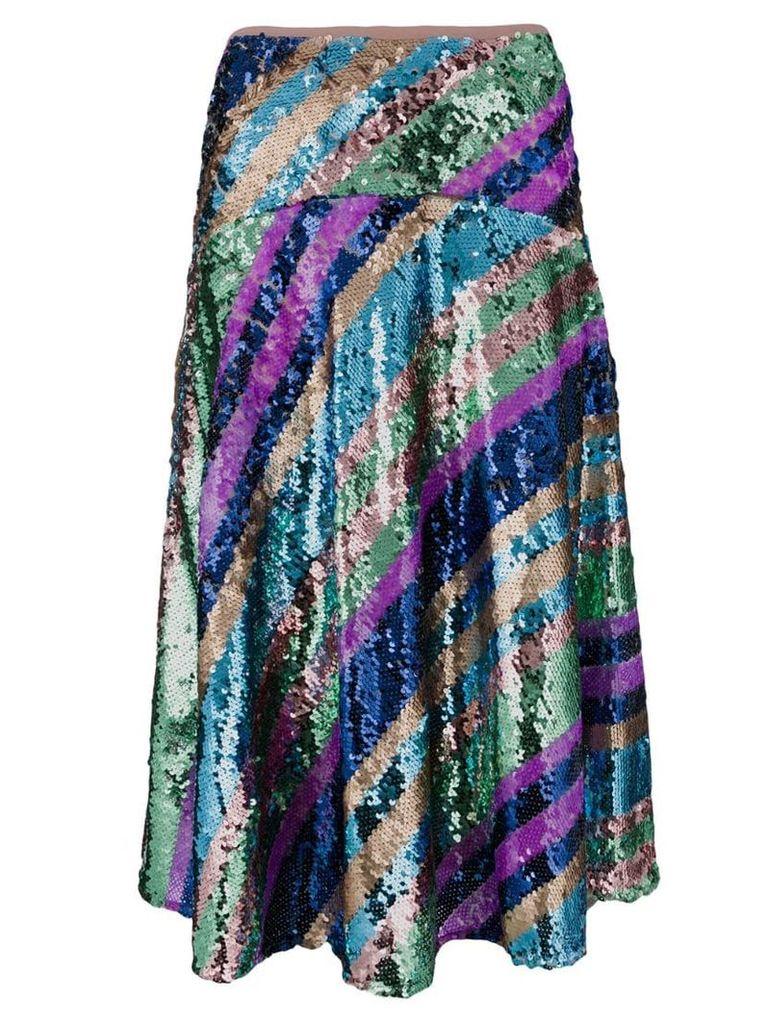 Essentiel Antwerp embellished knee length skirt - Multicolour