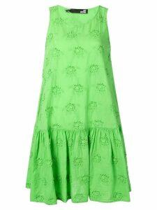 Love Moschino sleeveless embroidered mini dress - Green