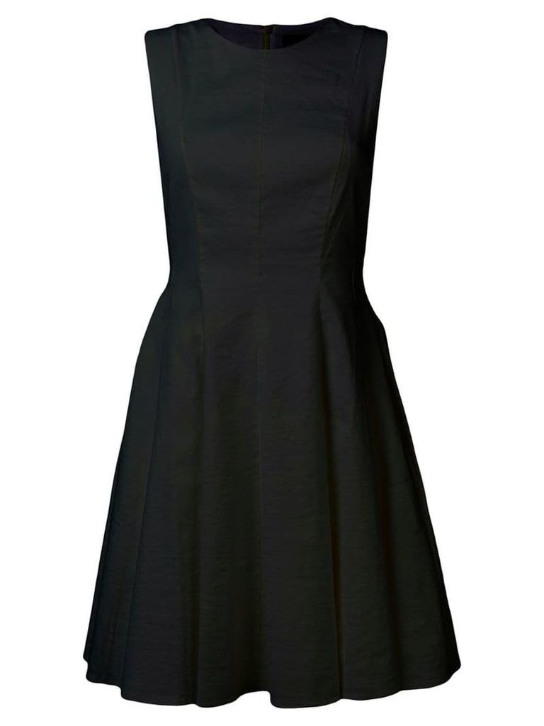 Theory poplin fit-and-flare dress - Black