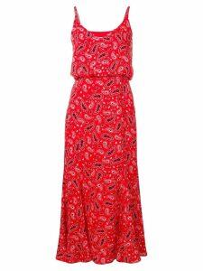 Jovonna paisley print midi dress - Red