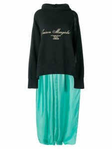 Mm6 Maison Margiela sweatshirt-panelled dress - Black