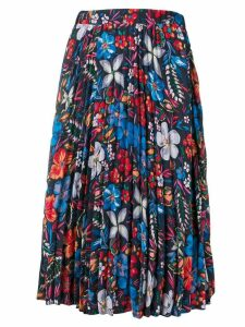 Essentiel Antwerp pleated floral print skirt - Black