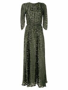 Bianca Spender Stamp Devore Notre Dame gown - Green