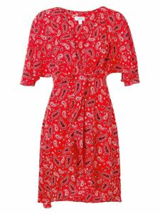 Jovonna paisley print plunge wrap dress - Red