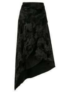 Bianca Spender Fur Martini skirt - Black