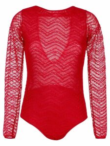 Andrea Bogosian long sleeved bodysuit - Red
