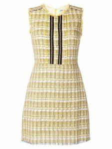 Liu Jo sleeveless tweed dress - Yellow
