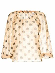 Bianca Spender polka dot blouse - Neutrals