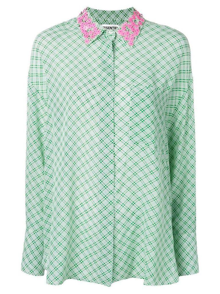 Essentiel Antwerp Shitaytay patterned shirt - Green