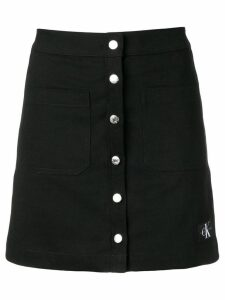 Calvin Klein Jeans button up mini skirt - Black