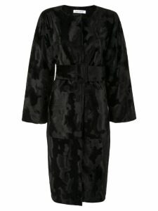 Bianca Spender Prague Fur coat - Black