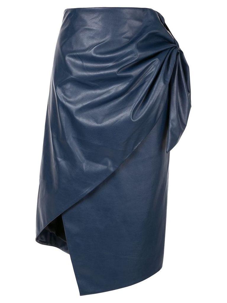 Bianca Spender Trapeze midi skirt - Blue