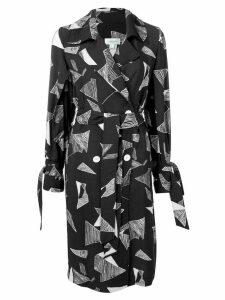 Jovonna abstract print wrap dress - Black