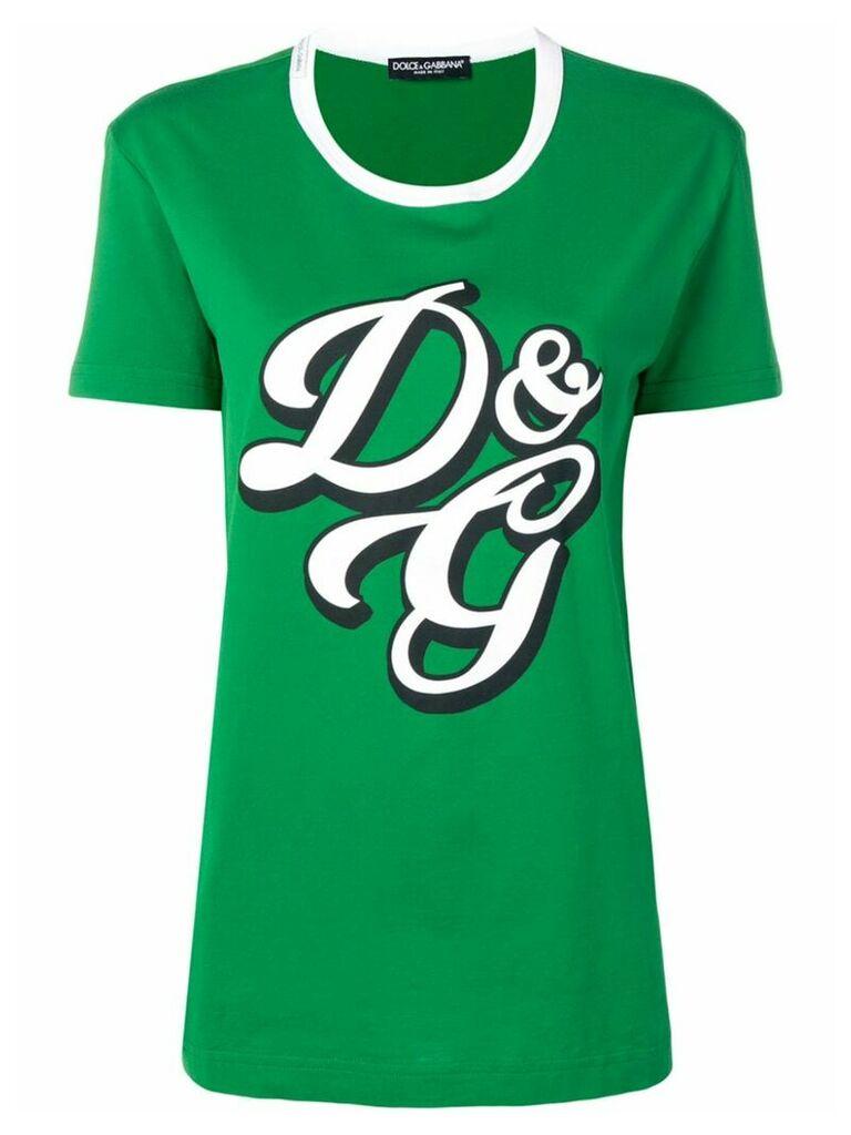 Dolce & Gabbana logo printed T-shirt - Green