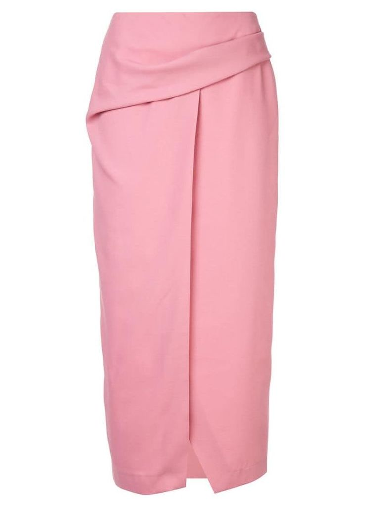 Bianca Spender Allegra straight-fit skirt - Pink