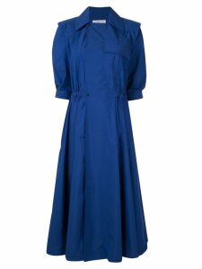 Toga notched-lapel dress - Blue