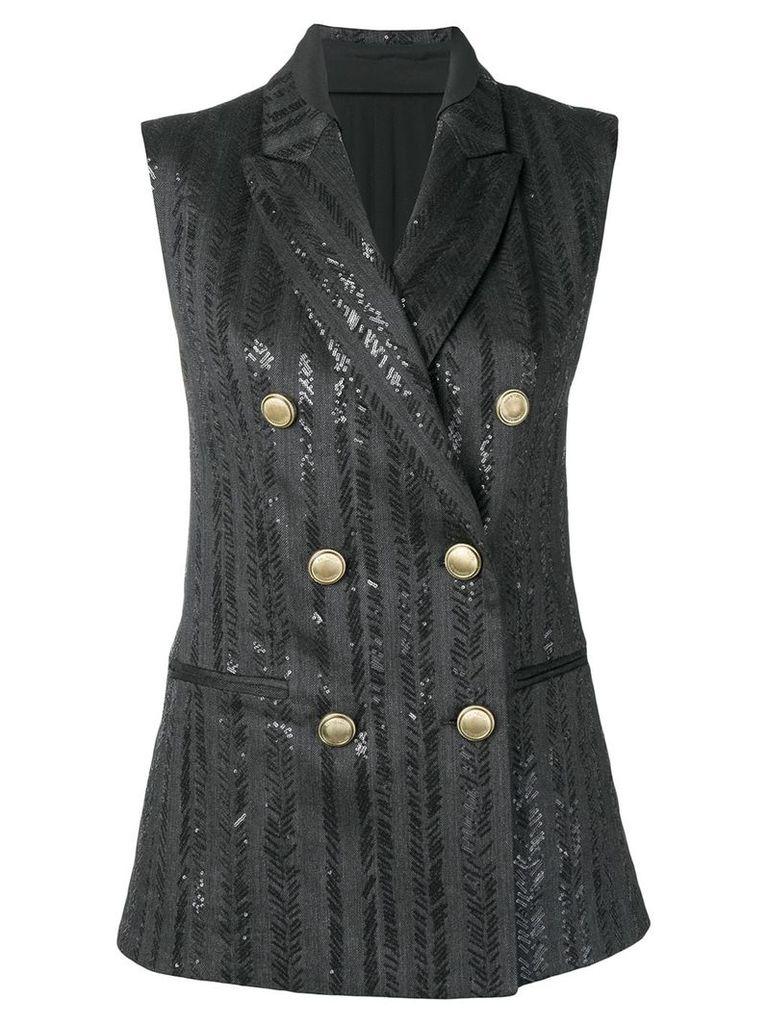 Brunello Cucinelli beaded waistcoat - Grey