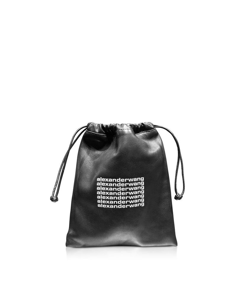 Alexander Wang Designer Handbags, Black Lambskin Ryan Mini Dustbag