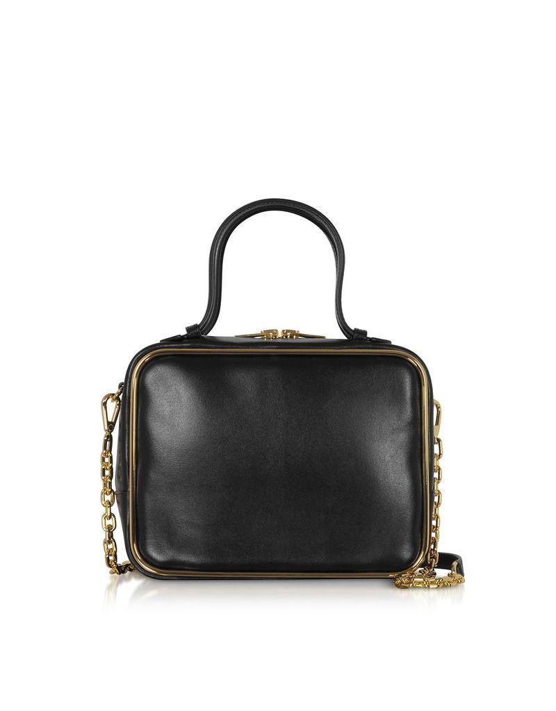 Alexander Wang Designer Handbags, Black Leather Halo Large Satchel