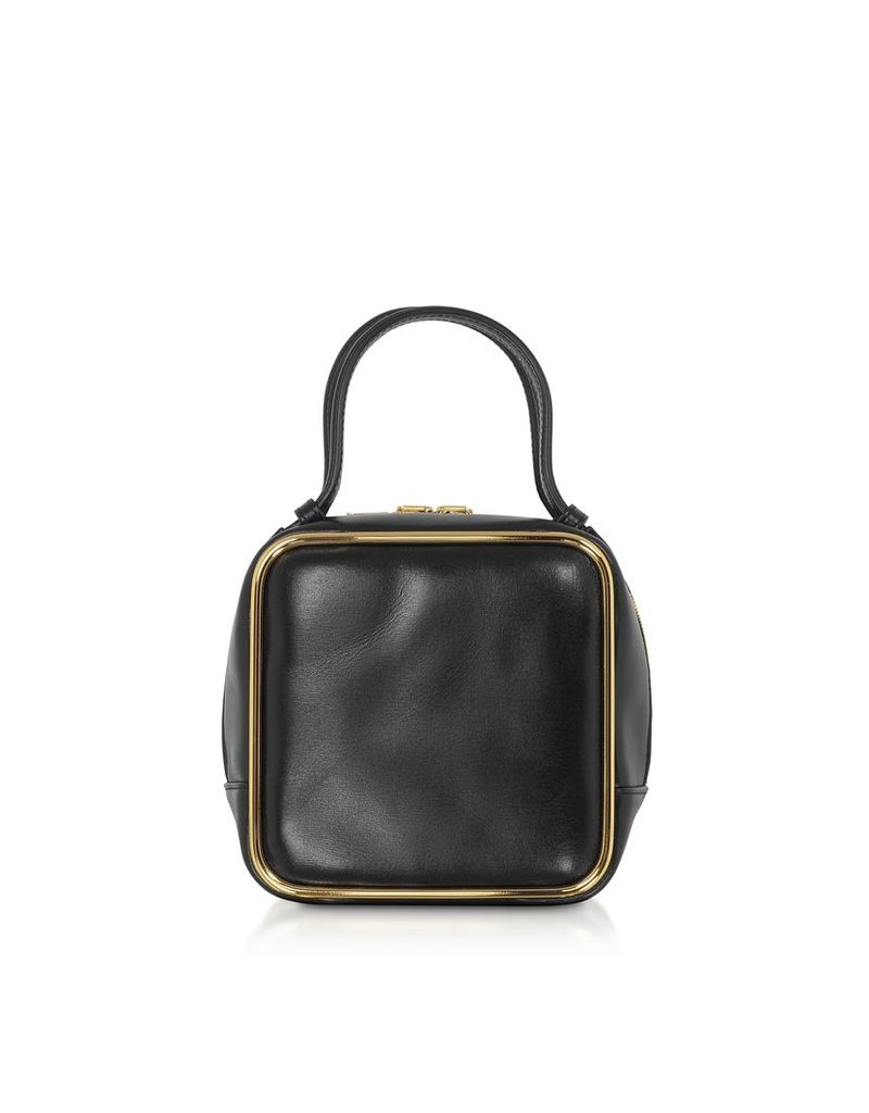 Alexander Wang Designer Handbags, Black Leather Halo Top Handle Satchel Bag