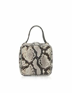 Alexander Wang Designer Handbags, Roccia Snake Print Halo Top Handle Satchel Bag