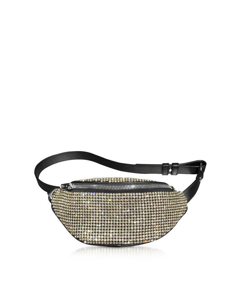 Alexander Wang Designer Handbags, Yellow Rhinestone Attica Soft Mini Fanny Crossbody